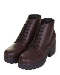 Topshop Purple Brit Boots - Lyst