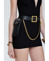 Chanel | Vintage Quilted Leather Belt Bag | Lyst