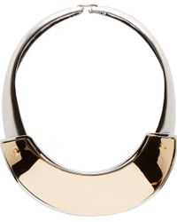 Marni Old Gold and Silver Metal Short Necklace - Lyst