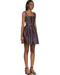 Christopher Kane Grey Leopard Jacquard Princess Dress - Lyst