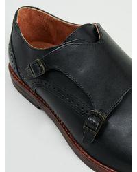 Topman Hudson Denby Black Monk Shoes - Lyst