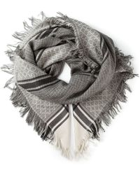 Gucci Diamond Checked Scarf - Lyst