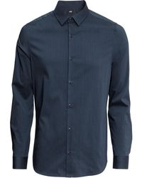H&M Stretch Shirt - Lyst