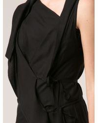 Ann Demeulemeester Black Asymmetric Dress - Lyst