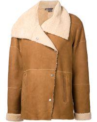 Vince Spread Collar Coat - Lyst