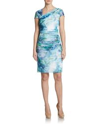 Kay Unger Mesh Print Dress - Lyst