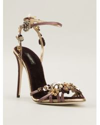 Dolce & Gabbana Pink Bellucci Sandals - Lyst