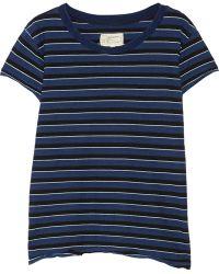 Current/Elliott The Crew Neck Striped Cotton-jersey T-shirt - Lyst