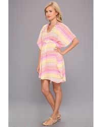 Steve Madden California Dream Short Tunic Tie Coverup - Lyst