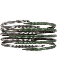 Arunashi Tsavorite And Diamond Cuff Claw - Lyst