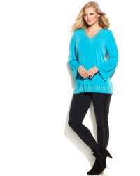 Michael Kors Michael Plus Size Studded V-Neck Tunic - Lyst
