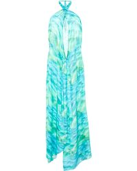Agua De Coco Halter Viscose Long Dress - Lyst