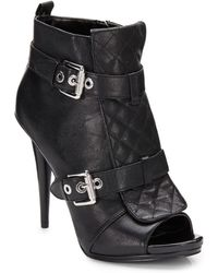 Nine West Arivaderci Quilted Leather Ankle Boots - Lyst