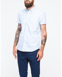 Topman Blue Stripe Short Sleeve Shirt - Lyst