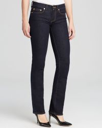 Tory Burch Straight Leg Jeans In Dark Rinse - Lyst