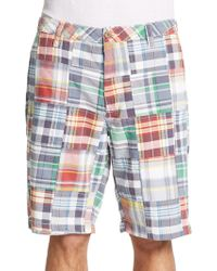 Tailor Vintage - Plaid Walking Shorts - Lyst