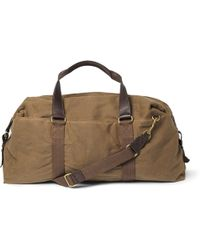 J.Crew Abingdon Waxed Cotton-canvas and Leather Holdall - Lyst
