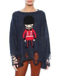 Wildfox Soldier Boy Lennon Long Sleeve Sweater - Lyst