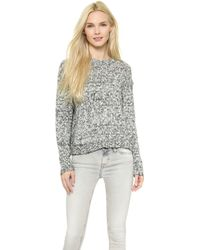 Cheap Monday Memories Knit Sweater - Whiteblack - Lyst