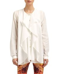McQ by Alexander McQueen Woven Cotton Ruffled Blouse - Lyst