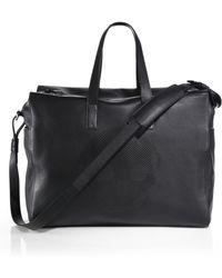 Alexander McQueen Leather Duffel Bag black - Lyst