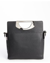 Christian Louboutin Black Leather 'Passage' Convertible Top Handle Bag - Lyst