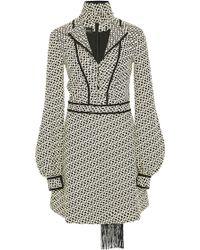 J. Mendel Knot Cloque Jacquard Long Sleeve Dress - Lyst