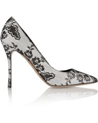 Nicholas Kirkwood Lace-Covered Satin Pumps - Lyst