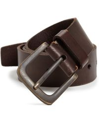 Leather Island By Bill Lavin - Skull Embossed Leather Belt - Lyst