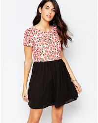 Sugarhill - Ugarhill Boutique Dress In Pear Print With Contrast Skirt - Lyst
