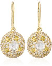 Alexis Bittar Fine | Gold Quartz Diamond Circle Drop Earrings | Lyst