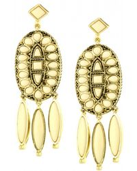 House Of Harlow Howl Feather Earrings - Lyst