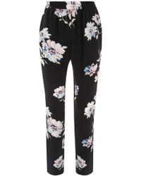 Joie - Talina Floral Print Silk Trousers - Lyst