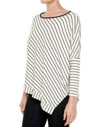 Ella Moss Aleksi Asymmetrical Stripe Top - Lyst