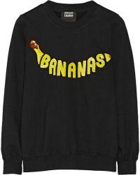 Markus Lupfer Bananas Sequined Cotton-terry Sweatshirt - Lyst