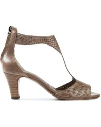 Laboratorigarbo - Perforated Leather Sandals - Lyst