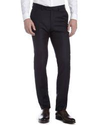 Ermenegildo Zegna Navy Wool Dress Pants - Lyst
