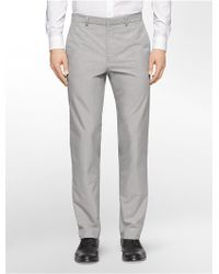 Calvin Klein White Label Straight Fit End On End Suit Pants - Lyst