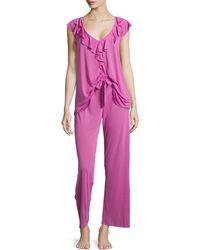 Oscar de la Renta - Soft Focus Knit Pajama Set - Lyst