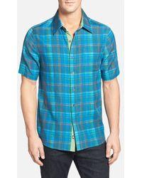Nat Nast 'Mondrian' Regular Fit Cotton, Silk & Linen Sport Shirt - Lyst