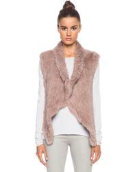 Nicholas Knitted Fur Vest - Lyst