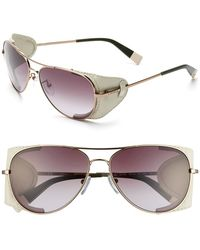 Furla Women'S 58Mm Aviator Sunglasses - Gold Beige/ Smoke Gradient - Lyst