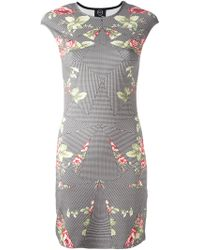 McQ by Alexander McQueen Multi-Print Fitted Dress - Lyst