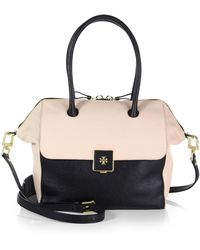 Tory Burch Twotone Leather Satchel - Lyst