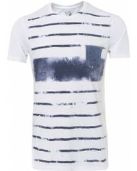 True Religion Stripe Crew Tshirt - Lyst
