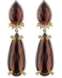 Alexis Bittar Elements Double-pear Clip-on Earrings - Lyst