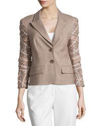 ESCADA Embellished-Detail Wool Jacket - Lyst