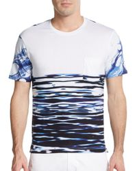Robert Graham Blue Hawaii Abstract-Print Cotton Tee - Lyst