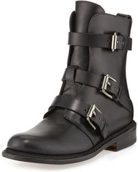 Rag & Bone Hudson Short Buckled Moto Boot - Lyst