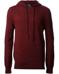 McQ by Alexander McQueen Hooded Bicolour Knit Sweater - Lyst